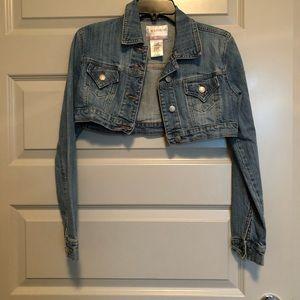 Cropped Denim Jean Jacket- Size S